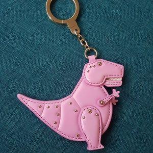 Kate Spade T-Rex Dinosaur Keychain Bag Charm Pink